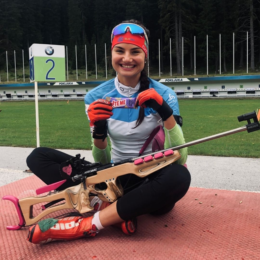 nina zadravec biteme ambasador biathlon